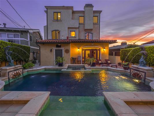 Backyard Pool Twilight