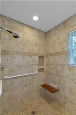 No-Step Shower
